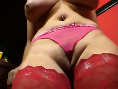 milf big tits brunette teasing lingerie natural close up panties striptease cameltoe rubbing dildo toys tight stockings ass pornstar masturbation solo