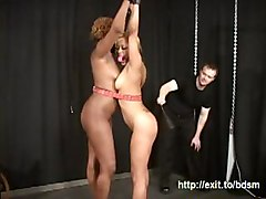 spanking bdsm sado pain painfull moresome flogging bondage beating trashing tiedup weird bizarre blonde ebony interracial