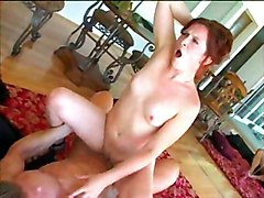 Redhead Blowjob Caucasian Couple Cum Shot Oral Sex Pornstar Redhead Shaved Swallow Vaginal Sex Ashley Haze