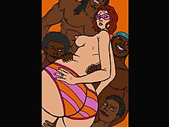 BBW Cartoons Interracial