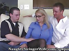 Cuckold Glasses Housewives big tit blonde milf wife