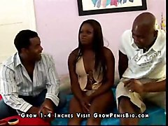 clothes 3some ebony nice tits shaved cocksuck pussylick finger