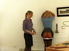 Femdom Spanking Stockings