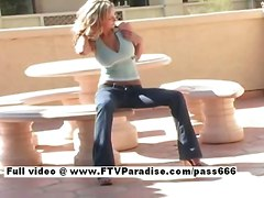 blonde outdoor bigtits masturbation solo