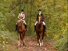 impetuous caress horsewomen outdoor masturbation