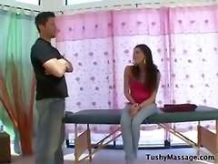 massage babe small tits hardcore ass anal cum brunette blowjob facial