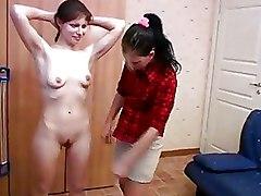 Lesbian Teen panties small tits sport