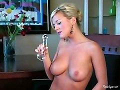 Masturbation Blonde Blonde Caucasian Maid Masturbation Pornstar Solo Girl Striptease Toys Uniform Vaginal Masturbation Bree Olson