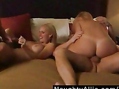 Foursome Group Sex bedroom sex milfs tanned body