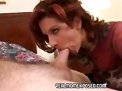 amateur milf redhead dagfs mother aunt blowjob cum
