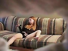 Masturbation Teen redhead solo