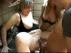 Group Sex Old   Young Threesomes