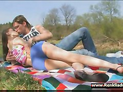 anal teen outdoor creampie blowjob brunette smalltits pussyfucking