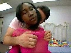black interracial creampie ebony fishnet gonzo hairypussy heels kissing