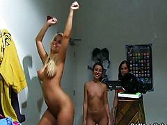 Teens Caucasian Solo Girl Striptease Teen