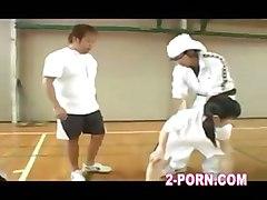 jap schoolgirl does basketball practice handjob