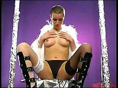 Masturbation Brunette Caucasian High Heels Masturbation Solo Girl Stockings Vaginal Masturbation