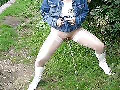 Public nudity Pussy Stockings Upskirt