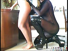 Lesbian Boots Caucasian Fetish High Heels Lesbian Pantyhose Shaved