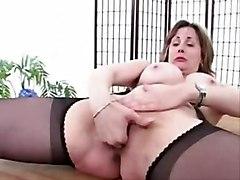 Fingering MILFs Stockings