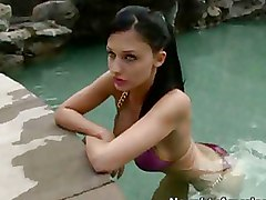 Babes Bikini Blowjobs Outdoor