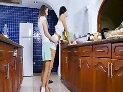kitchen lesbians pornstar kitchensex