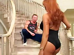 cumshot facial hardcore latina milf blowjob shaved bigtits pussyfucking stairs