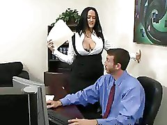 Mature Office Pussy Licking big tits