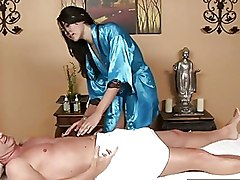 Massage Oiled Piercing blowjob busty cumshot oil skinny
