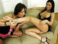 Anal Group Anal Sex Black-haired Blowjob Brunette Caucasian Cum Shot Licking Vagina Oral Sex Piercings Pornstar Shaved Stockings Threesome Vaginal Sex Lora Black Maria Bellucci