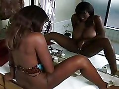 Bathroom Ebony Masturbation bigtits black