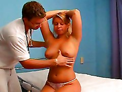 Hospital Milf blonde boobs doctor