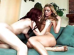 Babes Fingering Karlie Montana Lesbian Mia Presley licking pussy redhead