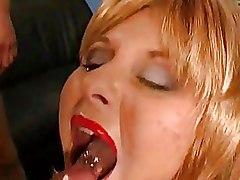 Bukkake Cumshots blonde sex milf blowjob