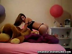 teen bedroom dance panties strip naked pussy sexy