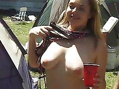 Outdoor Public nudity flashing girls public wild