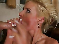 Group Sex MMF Threesome ass babe big butt blonde busty pornstar