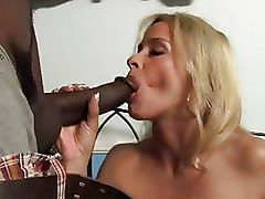 Big Cock Interracial Milf blonde cougar gangbang