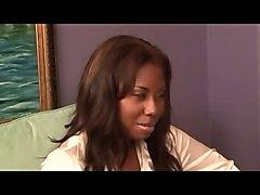 Black and Ebony Interracial Lesbians