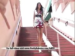 public solo girl brunette pussy tits