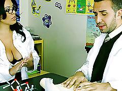 Big Tits Hardcore Stockings bigtits blowjob boobs brunette busty desk fucking student teacher
