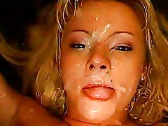 Babes Blondes Bukkake Cum Swallowing