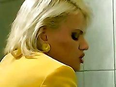 Non Nude Toilet blonde mature