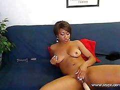 Ebony Fucking Machines Masturbation fucking machine sex machine virtual sex webcam
