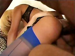 blonde anal ebony double penetration hardcore porn cumshot fuck interracial black cock pussy stockings