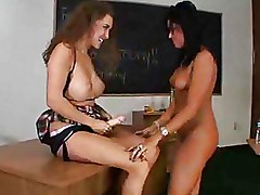 Big Tits Lesbian Strapon