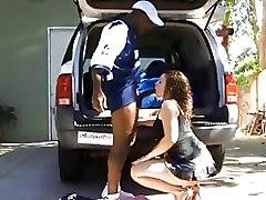 Car Interracial Outdoor black cock blowjob milf skurts