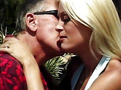 Facials Blonde Blonde Blowjob Caucasian Couple Cum Shot Facial High Heels Licking Vagina Oral Sex Outdoor Pool Shaved Vaginal Sex Young & Old
