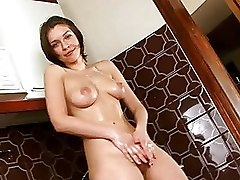 Bathroom Fingering Masturbation solo