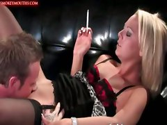 crystal pink hardcore smoking fetish sex kinky blonde cumshot facial